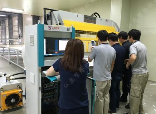 皮带式面膜机韩国生产现场