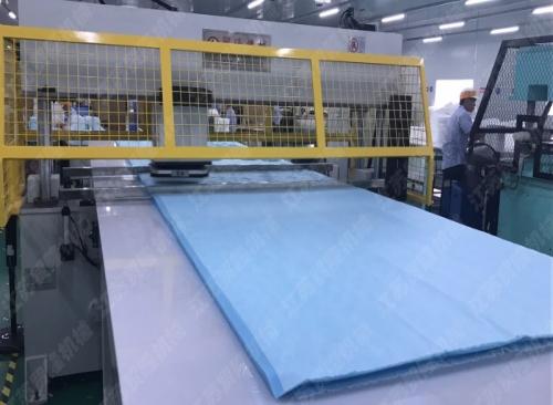 贸隆机械 CAD排版平板式面膜布裁断机