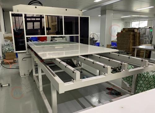 ccd成像定位裁切,全自动图案成像裁切,贸隆机械,裁断机,下料机,箱包成型裁断机